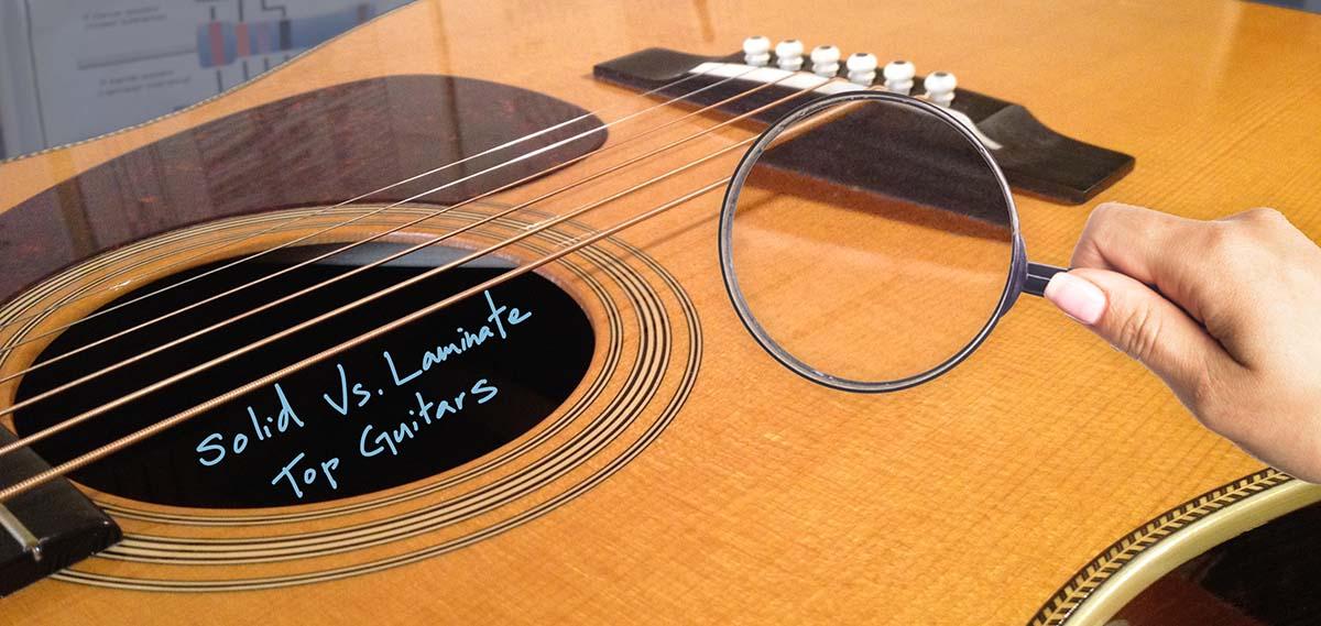 ผลการค้นหารูปภาพสำหรับ solid top acoustic guitar vs laminate